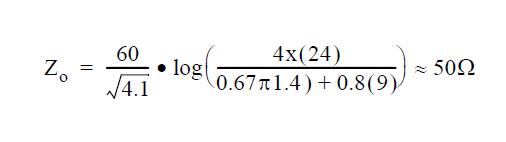 معادله امپدانس استریپلاین