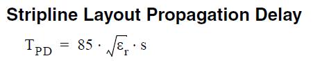 معادله تاخیر انتشار مربوط به استریپلاین