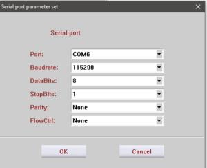 انتخاب پورت کویکتل mc60 در نرم افزار QNavigator