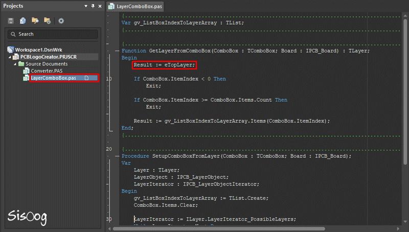 فایل LayerComboBox و تعیین لایه تصویر