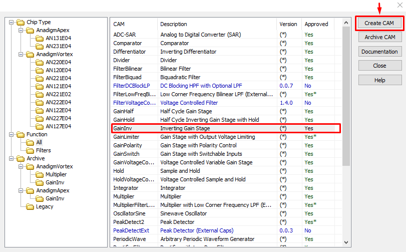 ماژولهای آنالوگ در نرمافزار AnadigmDesigner2