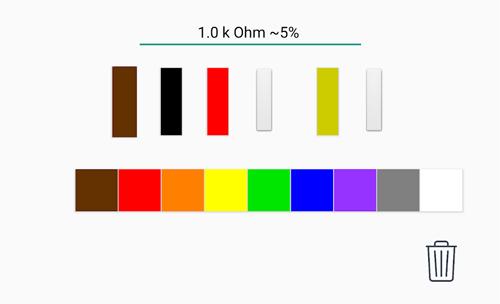 نرم افزار اندروید محاسبه رنگ مقاومت