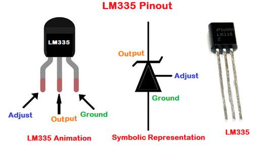 ترتیب پایه های lm335