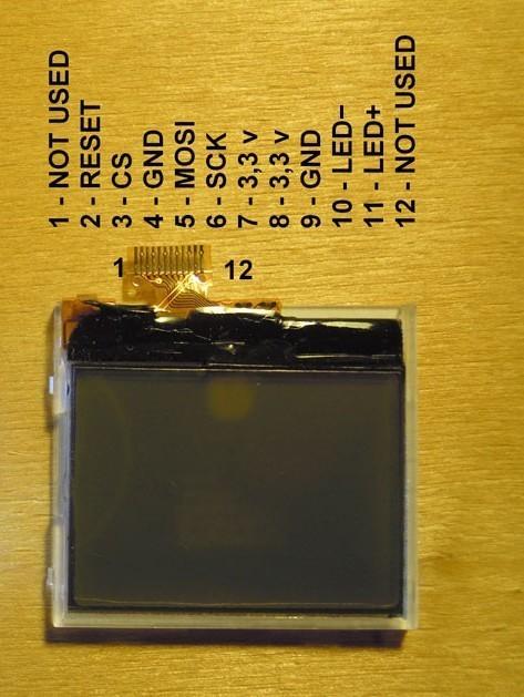 ترتیب پایه های نمایشگر nokia 1202