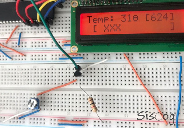 اندازه گیری دما با LM335