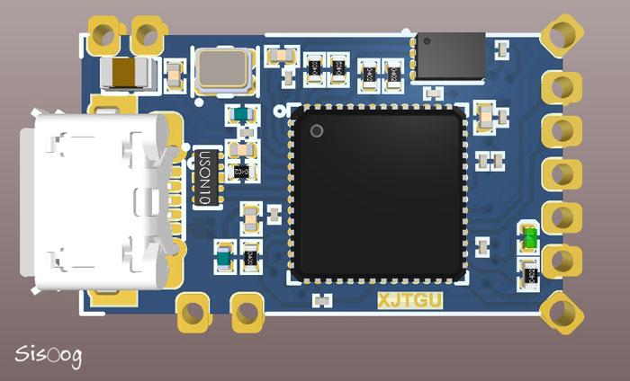 نمونهی طراحی مدار چاپی با پدهای Half-Cut