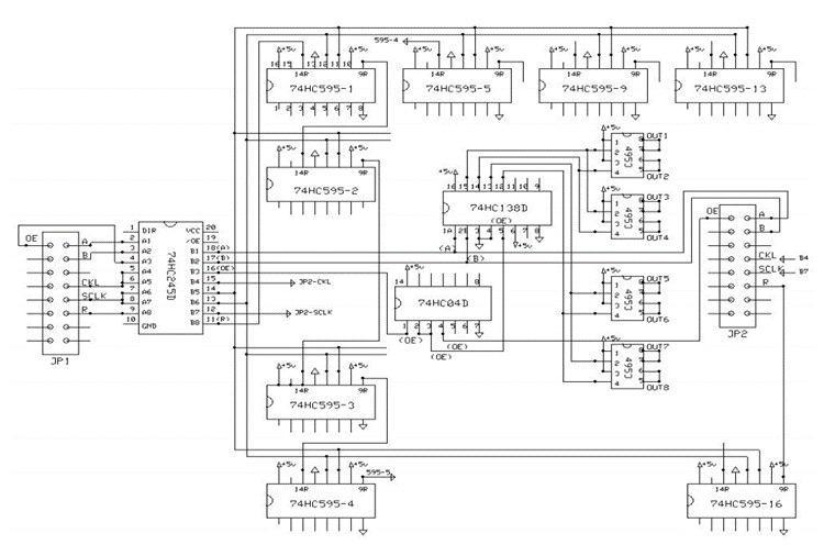 شماتیک ماژول LED P10