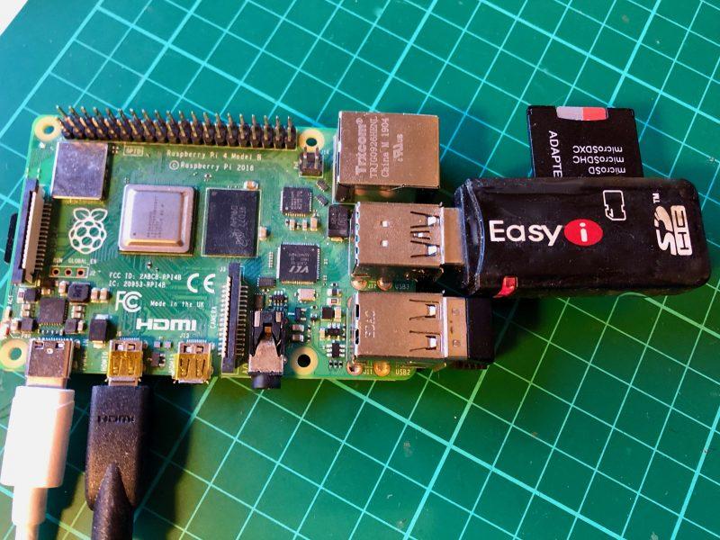 اتصال SD کارت به رزبری
