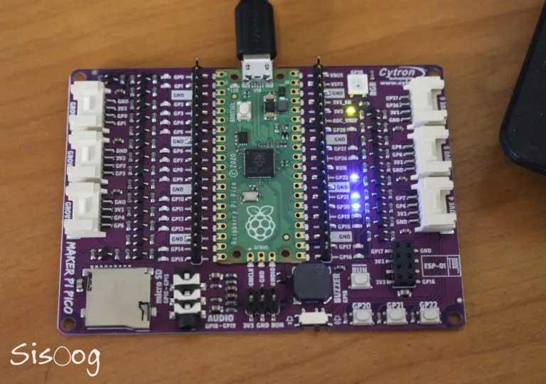 اولین بوت Maker Pi Pico