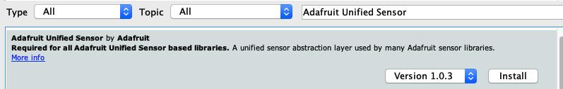 Adafruit Unified Sensor