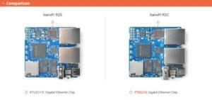 NanoPi R2C VS R2S